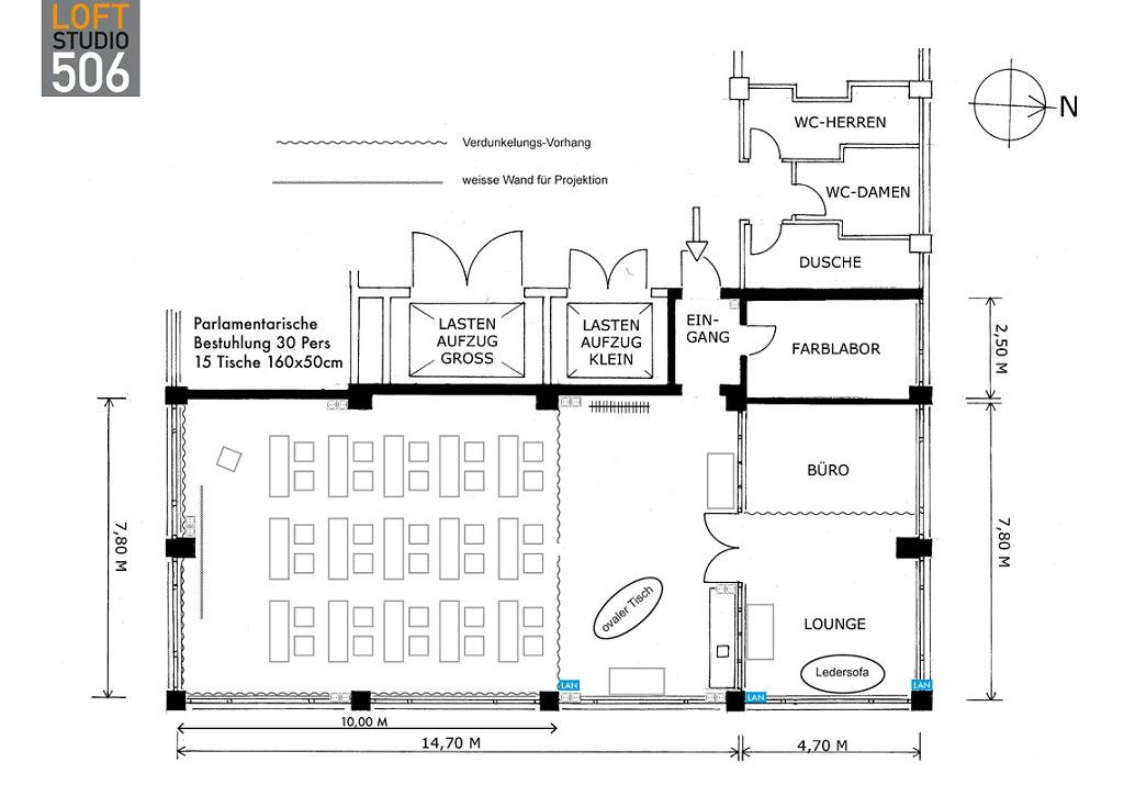 Grundriss Loft506 Parlament